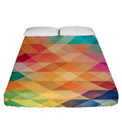 Texture Background Squares Tile Fitted Sheet (california King Size)