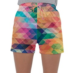 Texture Background Squares Tile Sleepwear Shorts