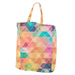 Texture Background Squares Tile Giant Grocery Zipper Tote