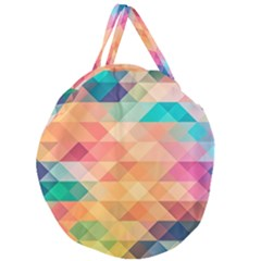 Texture Background Squares Tile Giant Round Zipper Tote
