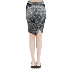 Dandelion Fibonacci Abstract Flower Midi Wrap Pencil Skirt
