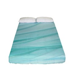 Blue Texture Seawall Ink Wall Painting Fitted Sheet (full/ Double Size)