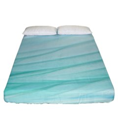Blue Texture Seawall Ink Wall Painting Fitted Sheet (king Size) by Nexatart