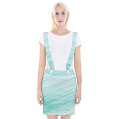 Blue Texture Seawall Ink Wall Painting Braces Suspender Skirt