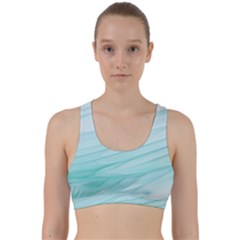 Blue Texture Seawall Ink Wall Painting Back Weave Sports Bra