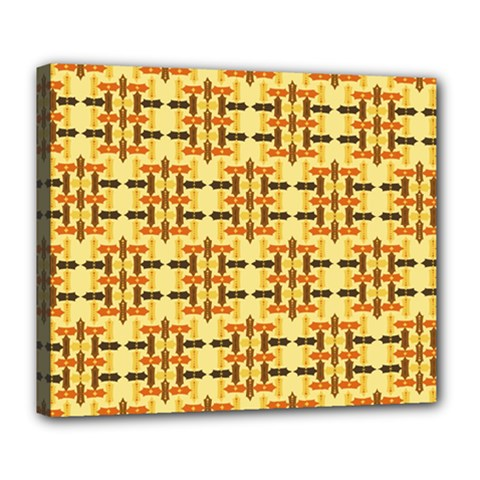 Ethnic Traditional Vintage Background Abstract Deluxe Canvas 24  X 20