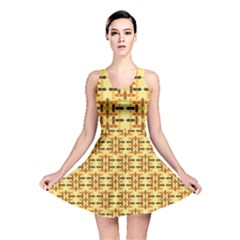 Ethnic Traditional Vintage Background Abstract Reversible Skater Dress