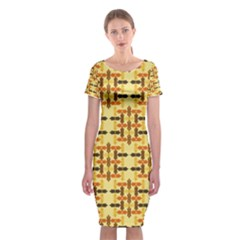Ethnic Traditional Vintage Background Abstract Classic Short Sleeve Midi Dress