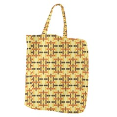 Ethnic Traditional Vintage Background Abstract Giant Grocery Zipper Tote