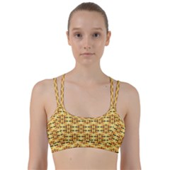 Ethnic Traditional Vintage Background Abstract Line Them Up Sports Bra