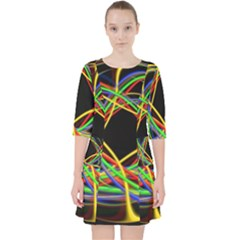 Ball Abstract Pattern Lines Pocket Dress