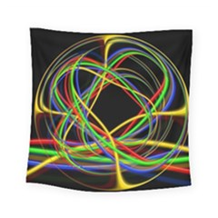Ball Abstract Pattern Lines Square Tapestry (small)