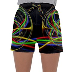 Ball Abstract Pattern Lines Sleepwear Shorts