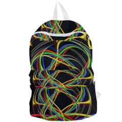 Ball Abstract Pattern Lines Foldable Lightweight Backpack