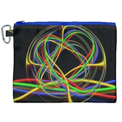 Ball Abstract Pattern Lines Canvas Cosmetic Bag (xxl)