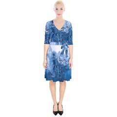 Water Nature Background Abstract Wrap Up Cocktail Dress