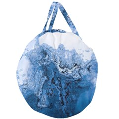 Water Nature Background Abstract Giant Round Zipper Tote