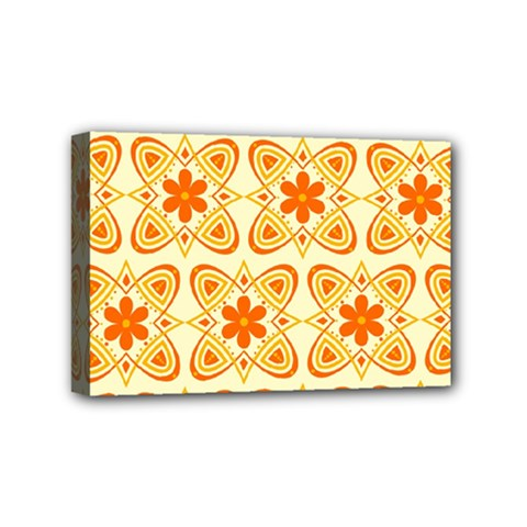 Background Floral Forms Flower Mini Canvas 6  X 4