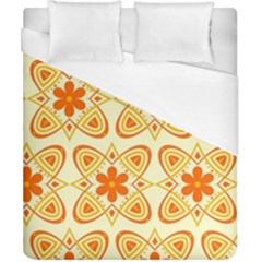 Background Floral Forms Flower Duvet Cover (california King Size)