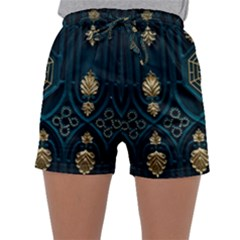 Ying Yang Abstract Asia Asian Background Sleepwear Shorts