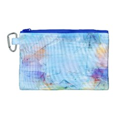 Background Art Abstract Watercolor Canvas Cosmetic Bag (large)