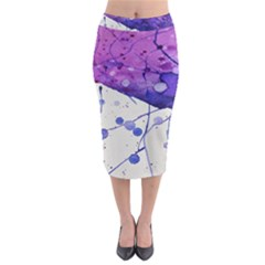 Art Painting Abstract Spots Midi Pencil Skirt