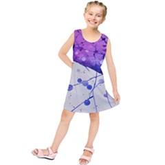 Art Painting Abstract Spots Kids  Tunic Dress
