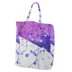 Art Painting Abstract Spots Giant Grocery Zipper Tote