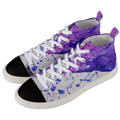 Art Painting Abstract Spots Men s Mid Top Canvas Sneakers by Nexatart