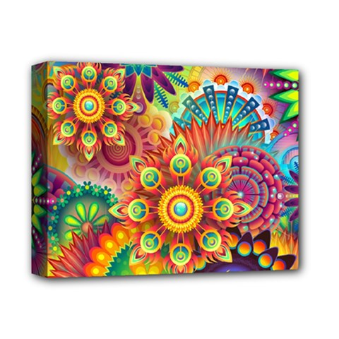 Colorful Abstract Background Colorful Deluxe Canvas 14  X 11  by Nexatart