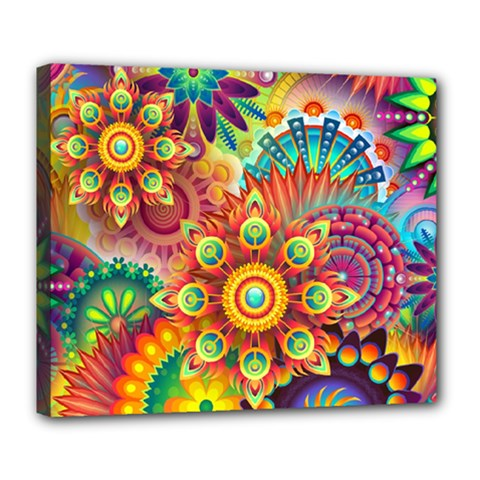 Colorful Abstract Background Colorful Deluxe Canvas 24  X 20   by Nexatart