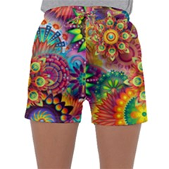 Colorful Abstract Background Colorful Sleepwear Shorts