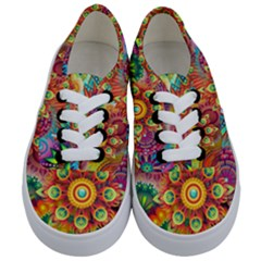 Colorful Abstract Background Colorful Kids  Classic Low Top Sneakers