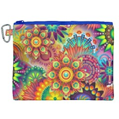 Colorful Abstract Background Colorful Canvas Cosmetic Bag (xxl) by Nexatart