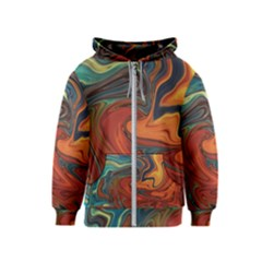 Creativity Abstract Art Kids  Zipper Hoodie