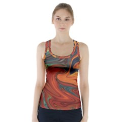 Creativity Abstract Art Racer Back Sports Top