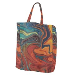 Creativity Abstract Art Giant Grocery Zipper Tote