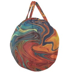 Creativity Abstract Art Giant Round Zipper Tote