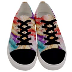 Feathers Bird Animal Art Abstract Men s Low Top Canvas Sneakers