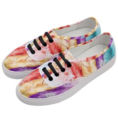 Feathers Bird Animal Art Abstract Women s Classic Low Top Sneakers by Nexatart