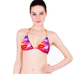 Abstract Art Background Paint Bikini Top by Nexatart