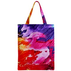 Abstract Art Background Paint Zipper Classic Tote Bag by Nexatart