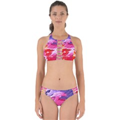 Abstract Art Background Paint Perfectly Cut Out Bikini Set