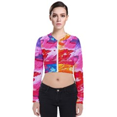 Abstract Art Background Paint Bomber Jacket by Nexatart