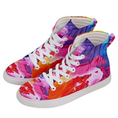 Abstract Art Background Paint Women s Hi-top Skate Sneakers by Nexatart