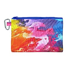 Abstract Art Background Paint Canvas Cosmetic Bag (large) by Nexatart
