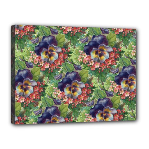 Background Square Flower Vintage Canvas 16  X 12  by Nexatart