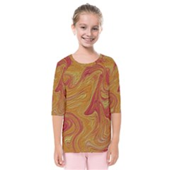 Texture Pattern Abstract Art Kids  Quarter Sleeve Raglan Tee