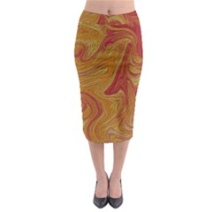 Texture Pattern Abstract Art Midi Pencil Skirt
