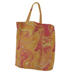 Texture Pattern Abstract Art Giant Grocery Zipper Tote
